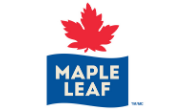 Maple Leaf Foods logo.