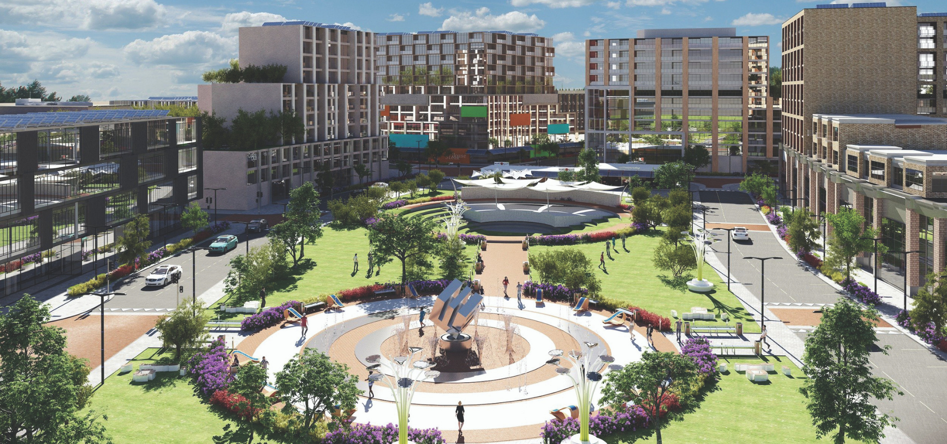 Rendering of the West 5 community.