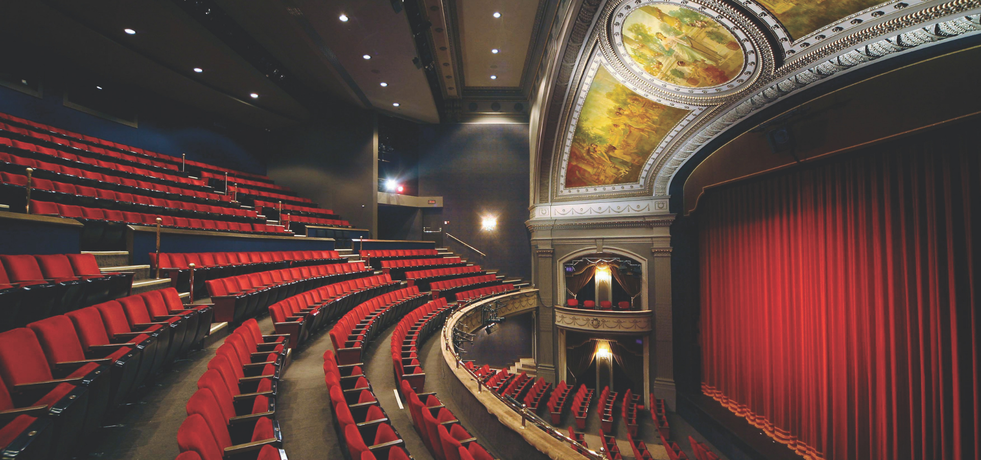 Inside the grand theatre.